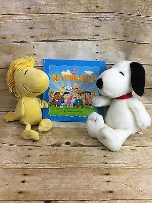 Peanuts Snoopy & Woodstock Plush Stuffed Animal W/ Book Be Yourself Kohl's Cares