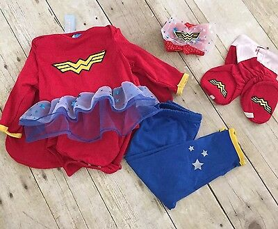 DC Friends Wonder Woman Baby Costume Outfit 6 - 12 mos birthday party super hero