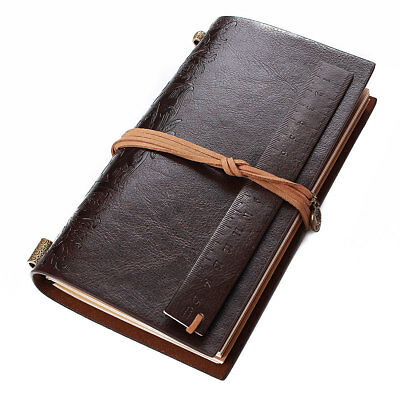 Vintage Retro Journal Travel Leather Cover Blank Note Book Travel Diary Notepad