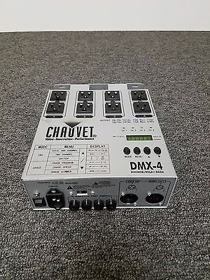 Chauvet DMX 4 4 Channel Dimmer Switch Relay Power Pack