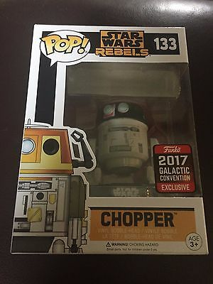 STAR WARS Funko POP! Hot Topic 2017 Galactic Convention Chopper 133 - NEW