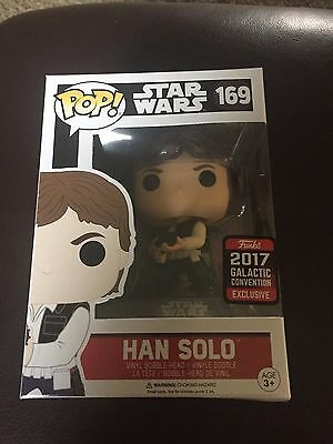 STAR WARS Funko POP! Hot Topic 2017 Galactic Convention Han Solo 169 - NEW