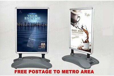 A1 Outdoor Snap Double Sided Display Stand Shop Poster Frame Business Sign Tank