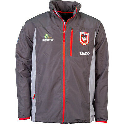 St George Illawarra Dragons NRL 2016 ISC Players Wet Weather Jacket Sizes S-3XL!