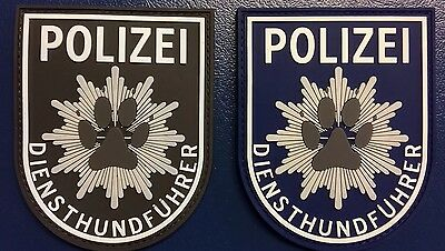 2 x Patch POLIZEI Diensthundführer K9 -glow-in-the-dark-effekt