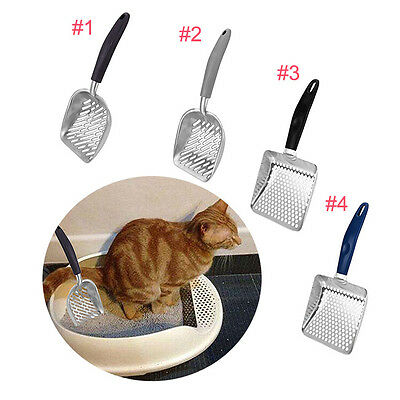 Cat Kitten Metal Litter Tray Scoop Sand Waste Scooper Shovel Dipper Cleaner Tool