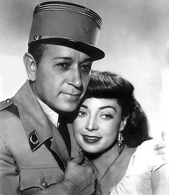 George Raft, Marie Windsor - Outpost in Morocco (1949) - 8 1/2 X 11
