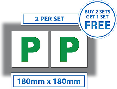 2 x P Plate Sticker Car Legal Passed Self-adhesive P Plates vinyl stickers