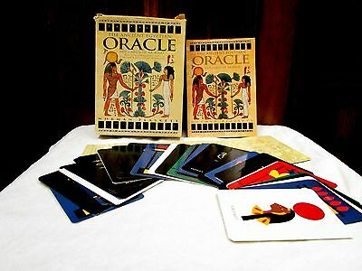 ANCIENT EGYPTIAN ORACLE Boxed Set Kit 72 Cards Book 1998 Rare Norman Plaskett