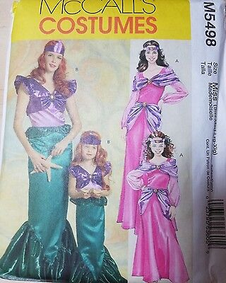 McCalls M5498 ADULT SM-XL MERMAID AND PRINCESS COSTUME REENACTMENT COSPLAY
