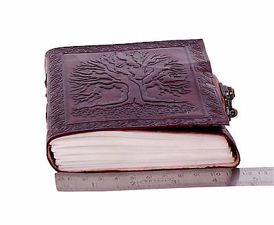 Handmade Leather Journal Tree Of Life Small Diary Notebook Acid Free Paper
