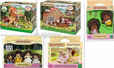 Sylvanian Families Tree House + Log Cabin + Hedgehog Family + 4618 4730 4018