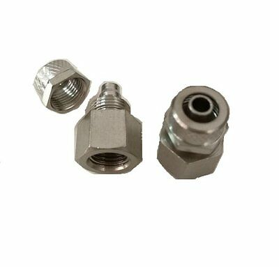 "Pneumatic Gas Air Quick Connector Fitting 3/8"" OD Tube to UNF 7/16-20 Female #b3"
