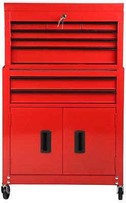 Halfords DIY Storage Store Garage Workshop Chest Cabinet 8 Drawer Tool Centre