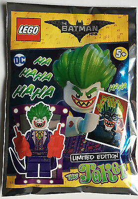 Lego The Batman Movie The Joker Limited Edition Minifigure 211702 New Free Post
