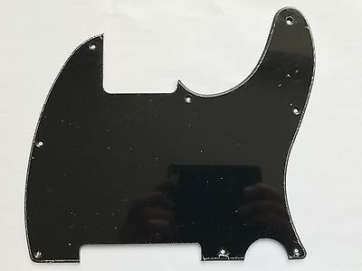 8 hole Single Ply BLACK ESQUIRE SCRATCH PLATE for Telecaster Tele guitars