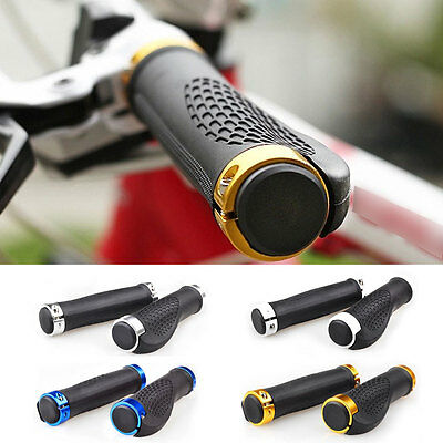 A Pair Bike Lock-on Handlebar Hand Grips Cycling Bicycle MTB BMX Mountain New