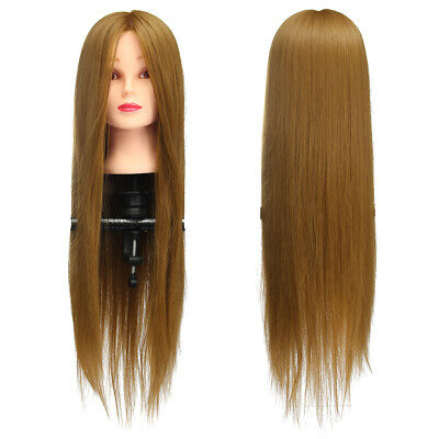 Salon Long Hair Mannequin Hairdressing Practice Training Model Head With Clamp