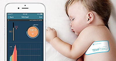TempTraq Wearable Smart Thermometer 24HR Continuos Fever Monitoring Mobile Alert