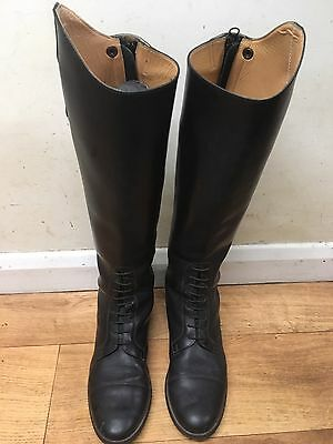 Brogini Gallipoli Laced Leather Long Riding Boots Size 7