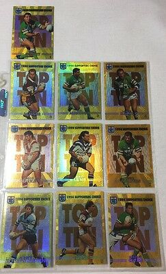 1994 Dynamic Rugby League Series 2 Supporters Choice Card Full Set (10)-Rare!