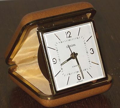 Vintage Europa 2 jewels travel alarm clock, GWO and good looking