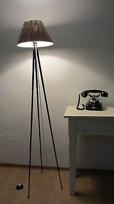 stylische Tripod Lampe Stehlampe Leseleuchte Messing Stativ