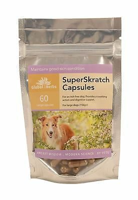 Global Herbs Superskratch Capsules For Large Dogs Pet Dog Supplements