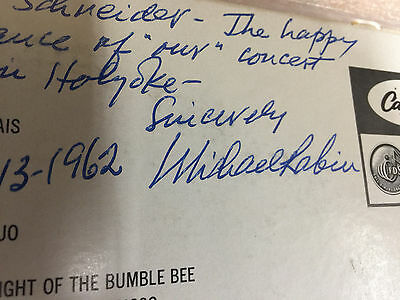 Michael Rabin Violin Autographed Note The Magic Bow Lp