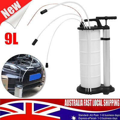 9L Capacity OIL EXTRACTOR WASTE OIL & FLUID VACUUM TRANSFER PUMP SUCTION PUMP AU