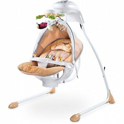 Caretero Bugies Cradle and Swing with Lights and Melodies - Beige