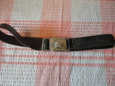 """Vintage Leather Scout Belt - Square Buckle Plates - Approx 24-26"""" waist"""