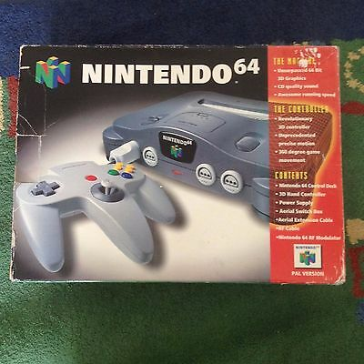 Nintendo 64 boxed with rumble pak