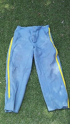 american civil war /indian wars nco cpl cavalry trousers blue repro size36