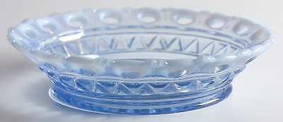 Imperial Glass Ohio LACED EDGE BLUE OPALESCENT (KATY) Cereal Bowl 8939542
