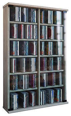 VCM CD DVD Roma Tower Sonoma Oak Book Furniture Cabinet Unit Storage Wood Wall