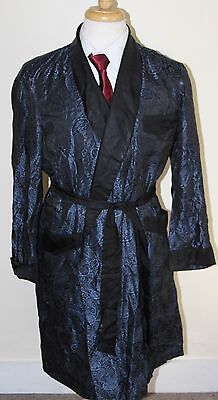 vintage MENS BLUE PAISLEY ROBE SZ XL BY TOOTAL