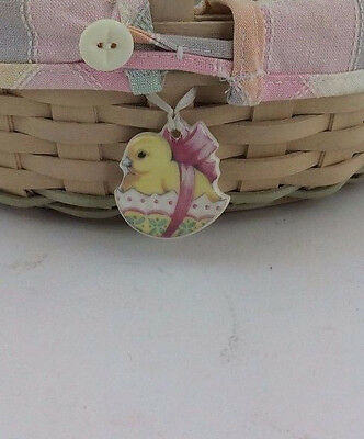 Longaberger TIE ON ONLY for Easter Basket Chicken Chick TO