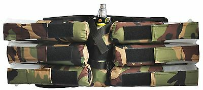 6+1 Paintball Pod Harness - Woodland Camouflage