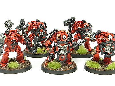 BLOOD ANGELS ASSAULT TERMINATOR SQUAD -  Painted Warhammer 40K Space Marine Army