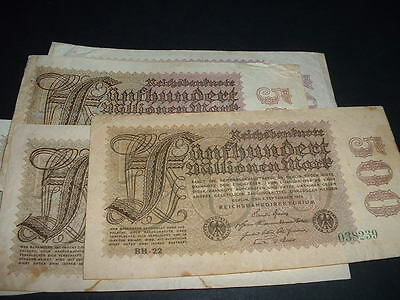 Original Germany 500 Million Mark Banknote 1923  (Hk