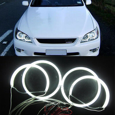 White CCFL Headlight Angel Eyes Halo Rings Light For Lexus IS200 IS300 1998-2005