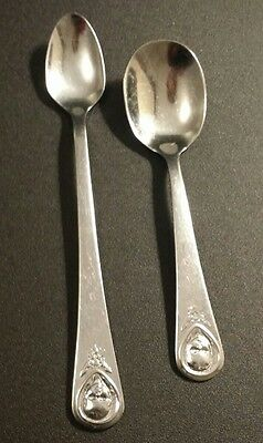 "Vintage Oneida Stainless Flatware ""gerber"" Infant Spoon And Baby Toddler Spoon"
