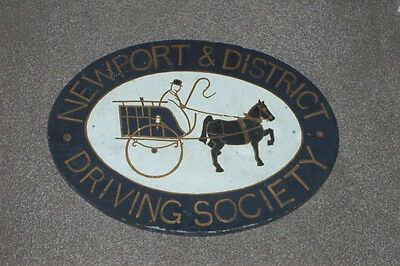 VINTAGE NEWPORT & DISTRICT HORSE DRIVING SOCIETY SIGN - Carriage Driving