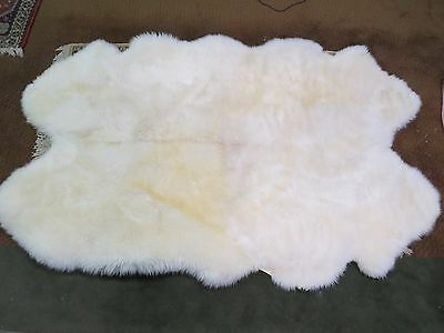 Genuine Lambskin, 4 Pelt Rug By Country Home, 6' By 4'