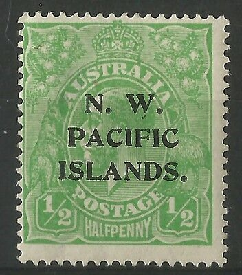 NORTH WEST N.W. PACIFIC ISLANDS 1915 MH/OG SG65 Sc11 KGV ovpt 1/2d green mint