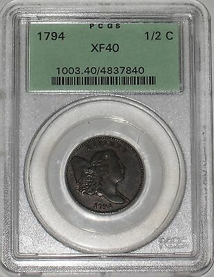 Amazing Chocolate Brown 1794 Liberty Cap Half Cent PCGS XF40 Museum Quality Coin