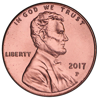 2017 P Lincoln Shield Cent Gem BU Penny US Coin