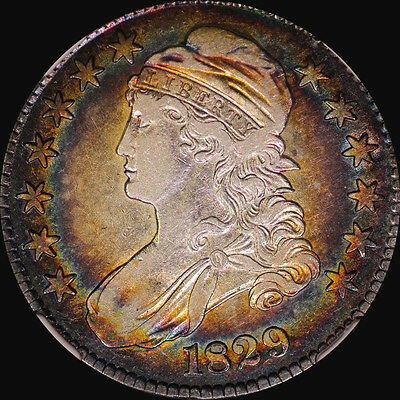1829 Capped Bust Half Dollar Ngc Vf 30 Toned