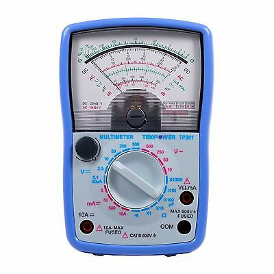 TekPower TP201 High Accuracy Analogue Multimeter Voltmeter Resistance Tester